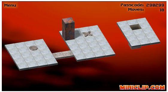 Bloxorz at MiniClip Games
